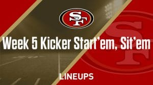 Week 5 K Start'em, Sit'em: Kicker Fantasy Football Strategy & Rankings