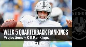 Week 5 QB Rankings: Quarterback Fantasy Stats & Projections