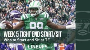 Week 5 TE Start'em, Sit'em: Tight End Fantasy Football Strategy