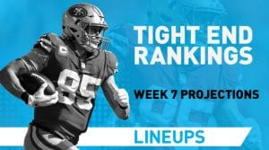 Week 7 TE Rankings PPR: Tight End Fantasy Stats & Projections