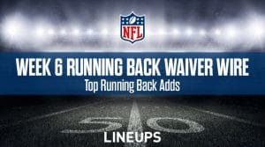 Week 6 RB Waiver Pickups & Adds: Running Back Fantasy FAAB Bids
