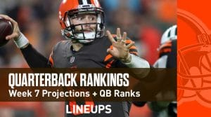 Week 7 QB Rankings: Quarterback Fantasy Stats & Projections