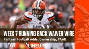 Week 7 RB Waiver Pickups & Adds: Running Back Fantasy FAAB Bids