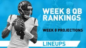 Week 8 QB Rankings: Quarterback Fantasy Stats & Projections