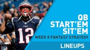 Week 8 QB Start, Sit: Quarterback Fantasy Football Strategy