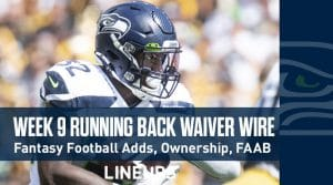 Week 9 RB Waiver Pickups & Adds: Running Back FAAB Bids, % Owned