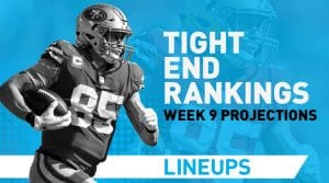 Week 9 TE Rankings PPR: Tight End Fantasy Stats & Projections