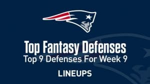 Week 9 Top 9 Fantasy Football Defense Rankings