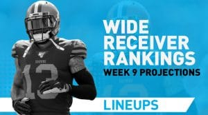 Week 9 WR Rankings PPR: Wide Receiver Fantasy Stats & Projections