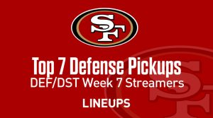 Top 7 Defense (DEF/DST) Waiver Wire Pickups: Week 7 Fantasy Streamers