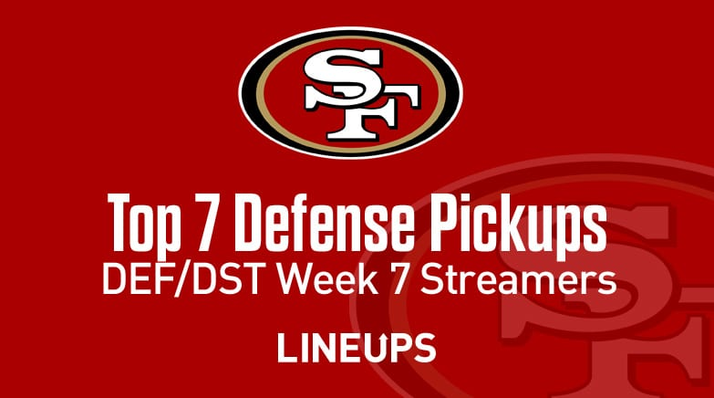 Top 7 Defense Def Dst Waiver Wire Pickups Week 7 Fantasy Streamers