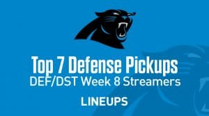 Week 8 Defense (DEF/DST) Waiver Wire Pickups: Fantasy Streamers