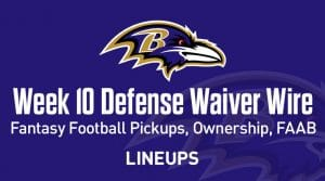 Week 10 Defense (DEF/DST) Waiver Wire Pickups: Fantasy Streamers