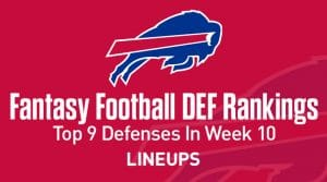 Top 9 Fantasy Football Defense Rankings for Week 10