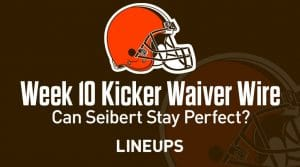 Week 10 Kicker Waiver Wire Pickups & Adds