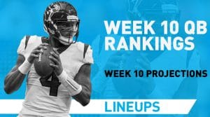 Week 10 QB Rankings: Quarterback Fantasy Stats & Projections