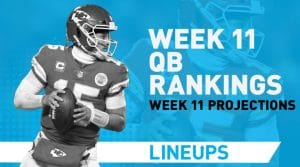 Week 11 QB Rankings: Quarterback Fantasy Stats & Projections
