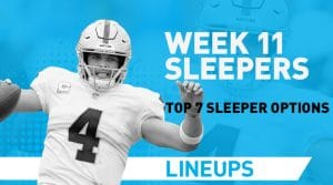 Top 7 Fantasy Sleepers for Week 11: Fantasy Value Options