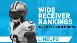 Week 11 WR Rankings PPR: Wide Receiver Fantasy Stats & Projections