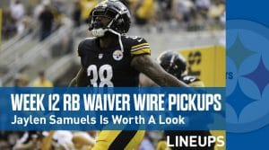 Week 12 RB Waiver Pickups & Adds: Running Back FAAB Bids, % Owned