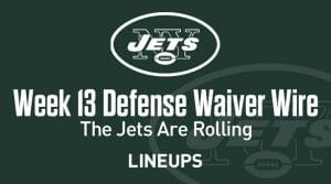 Week 13 Defense (DEF/DST) Waiver Wire Pickups: Jets Are Rolling