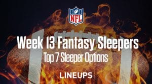 Top 7 Fantasy Sleepers for Week 13:  Ryan Tannehill to Score Big