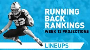 Week 13 RB Fantasy Rankings PPR: Ezekiel Elliott In A Sneaky Good Spot