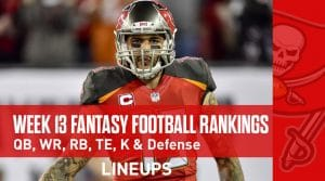 Week 13 Fantasy Football PPR Rankings & Projections: Tyreek Hill Primed For Big Week