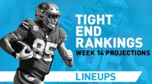 Week 14 TE Rankings & Projections (PPR): Pickup Red-Zone Rudolph