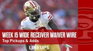 Week 15 WR Waiver Pickups & Adds: Chris Conley To Produce In Chark's Absence