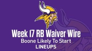 Week 17 RB Waiver Pickups & Adds: Boone Likely Starting