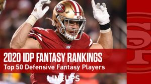 2020 Top 50 Defensive Player (IDP) Fantasy Football Rankings