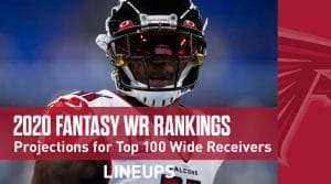 Wide Receiver PPR Rankings & Projections – Top 100 Fantasy WRs in 2020