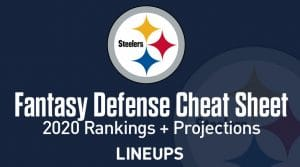 Fantasy Team Defense (DEF) Stats 2020: Draft Cheat Sheet