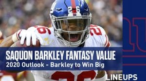 Saquon Barkley Fantasy Football Outlook & Value 2020