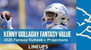Kenny Golladay Fantasy Outlook & Value 2020