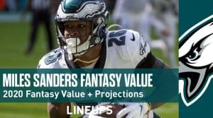Miles Sanders Fantasy Football Outlook & Value 2020