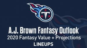 A.J. Brown Fantasy Football Outlook and Value 2020