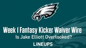 Week 1 Kicker Waiver Wire Pickups & Adds: Some Overlooked Names