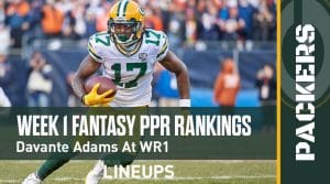 Week 1 Fantasy Football PPR Rankings & Projections: Davante Adams at WR1
