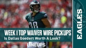 Week 1 Waiver Wire Top Pickups & Adds: Josh Kelley Is Gaining Traction