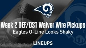 Week 2 Defense (DEF/DST) Waiver Wire Pickups: Eagles' O-Line Looks Shaky