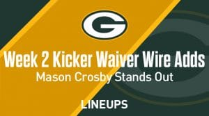 Week 2 Kicker Waiver Wire Pickups & Adds: Mason Crosby Stands Out