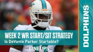 Week 2 WR Start, Sit Fantasy Strategy: Fire Up Parris Campbell