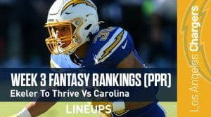 Week 3 Fantasy Football PPR Rankings & Projections: Amari Cooper Headed For A Big Week