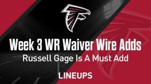 Week 3 WR Waiver Pickups & Adds: Russell Gage is a Must Add