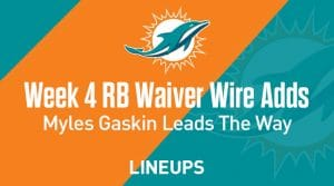 Week 4 RB Waiver Pickups & Adds: Myles Gaskin Breaks Away From Rest Of Miami Backfield