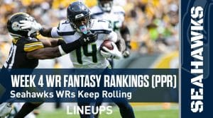 Week 4 WR Rankings & Projections (PPR): Lockett & Metcalf To Keep On Rolling