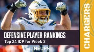 Top 24 Defensive Players (IDP) Rankings For Week 2: Jamal Adams In A Great Spot On Sunday Night