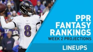Week 2 Fantasy Football PPR Rankings & Projections: Lamar Jackson To Torch Houston Defense